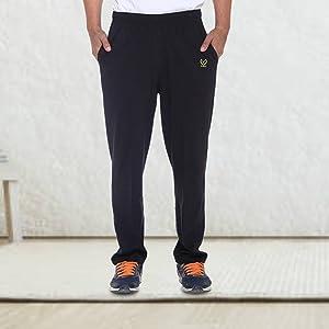 VIMAL Men's Black Cotton Trackpants