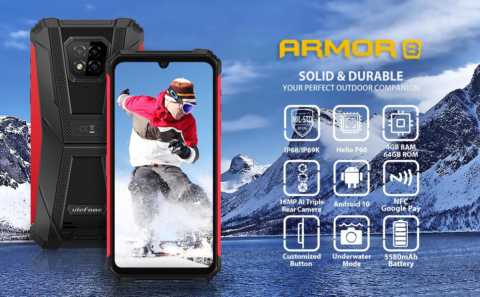 ulefone armor 8 rugged smartphone