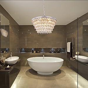 cystal chandelier light for bathroom