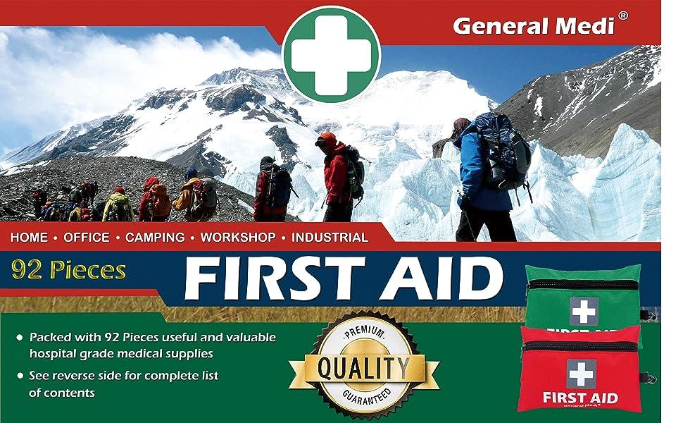 92 pcs mini first aid kit