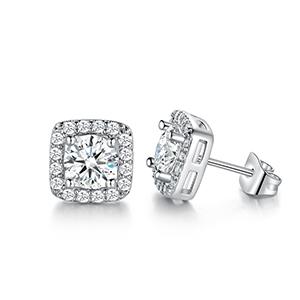 stud earrings,earrings for women,halo earrings,earrings for men,Hypoallergenic earrings,wedding stud