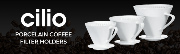 CILIO Porcelain Coffee Filter Holders