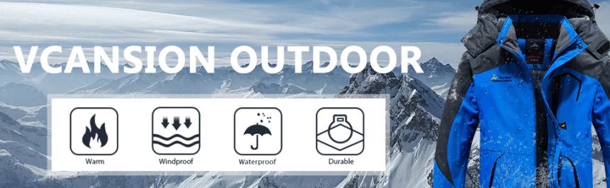 Men's Outdoor Ski Snow Jacket Waterproof Fleece Mountain Hooded Rain Coat