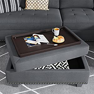 sectional couches with storage ottoman
