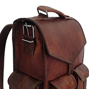 backpack leather handbag