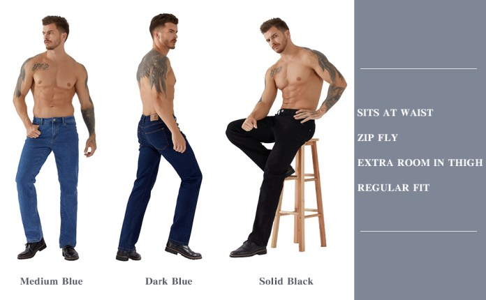 relaxed fit jeans for men