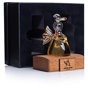angels' share glass, whisky gift, whisky filled angel