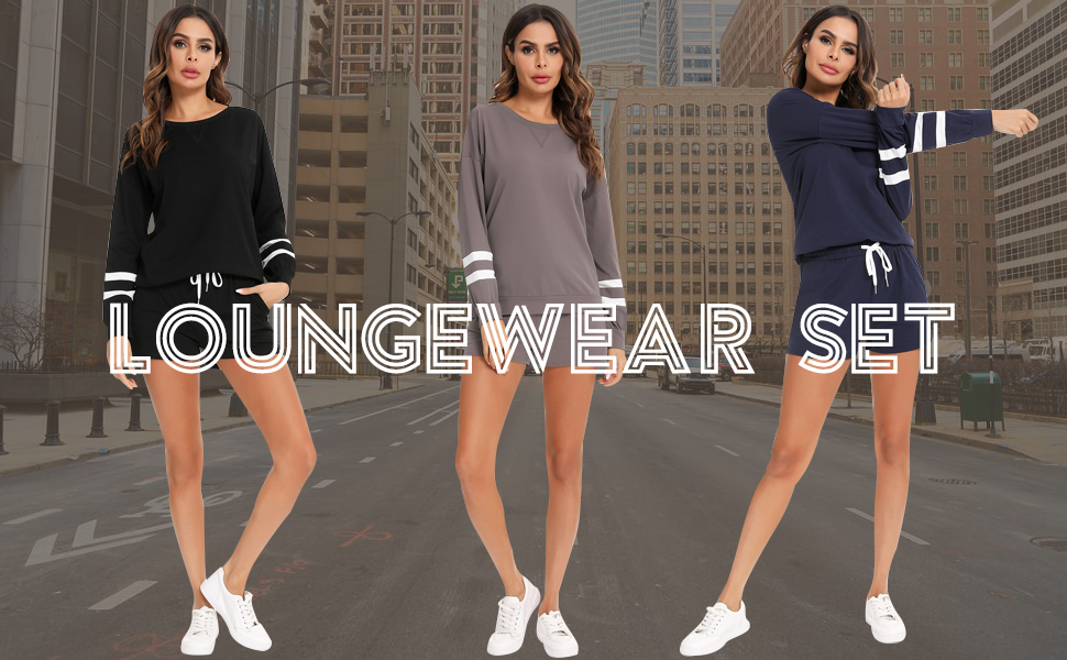 Women's  2 piece Sport Outfits Sets  Long Sleeve Pullover and  Sweatpants sweatsuits tracksuits