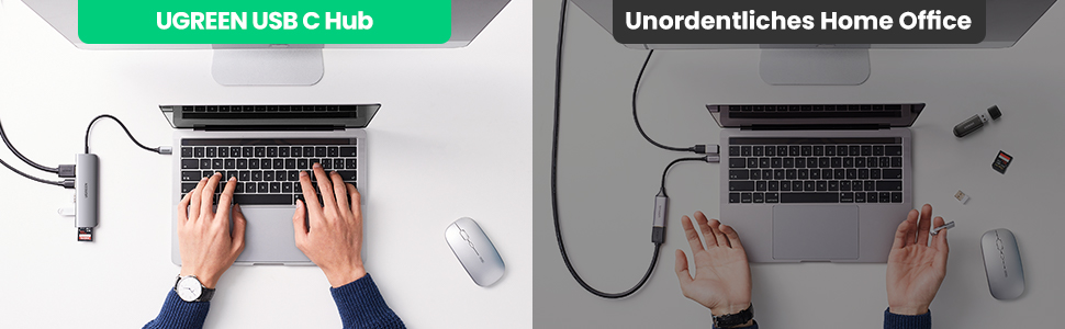 UGREEN USB C Hub vs Unordentliche Home Office