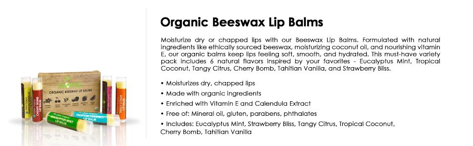 organic beeswax lip balms 6 tubes 6 pack lip balms natural lip stick bio chapstick beeswax oil gift