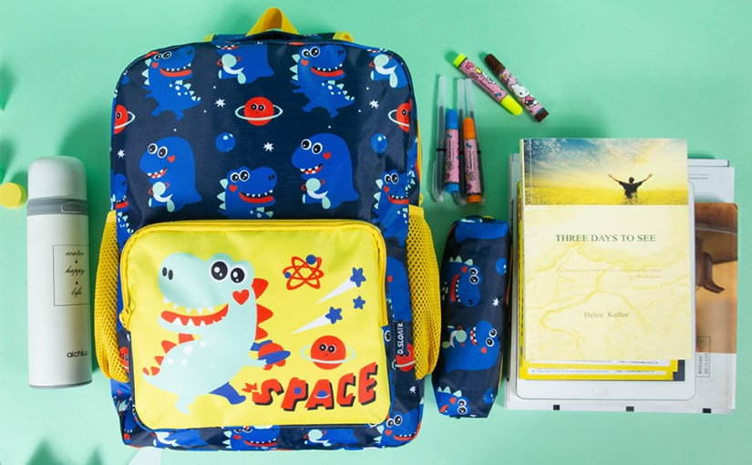 Kids School Backpack Cute Dinosaur Backpack with Pencil Case