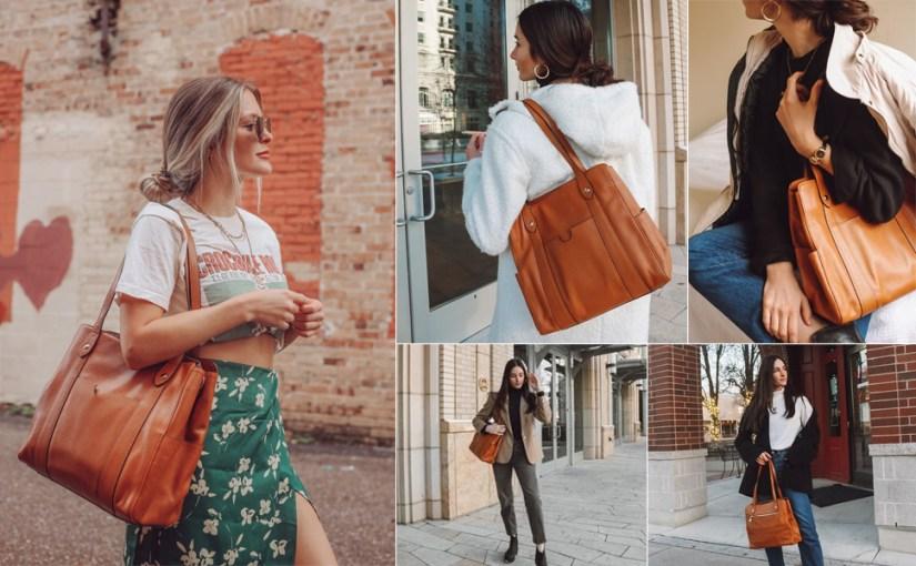S-ZONE Women Soft Genuine Leather Tote Crossbody Bag Work Purse Slouchy Shoulder Handbag
