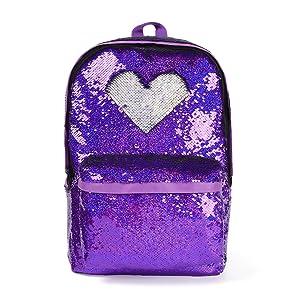 sequin school backpack