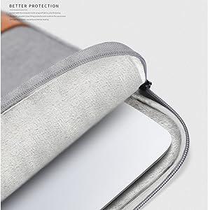 grey brown canvas laptop sleeve
