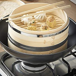 b02aa67a 847d 47b0 9244 e47bd8208c8d.  CR267,288,1154,1154 PT0 SX300 V1    - Livzing Bamboo Steamer Set With Lid- Brown
