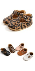 Baby Boys Girls PU Leather Sneakers