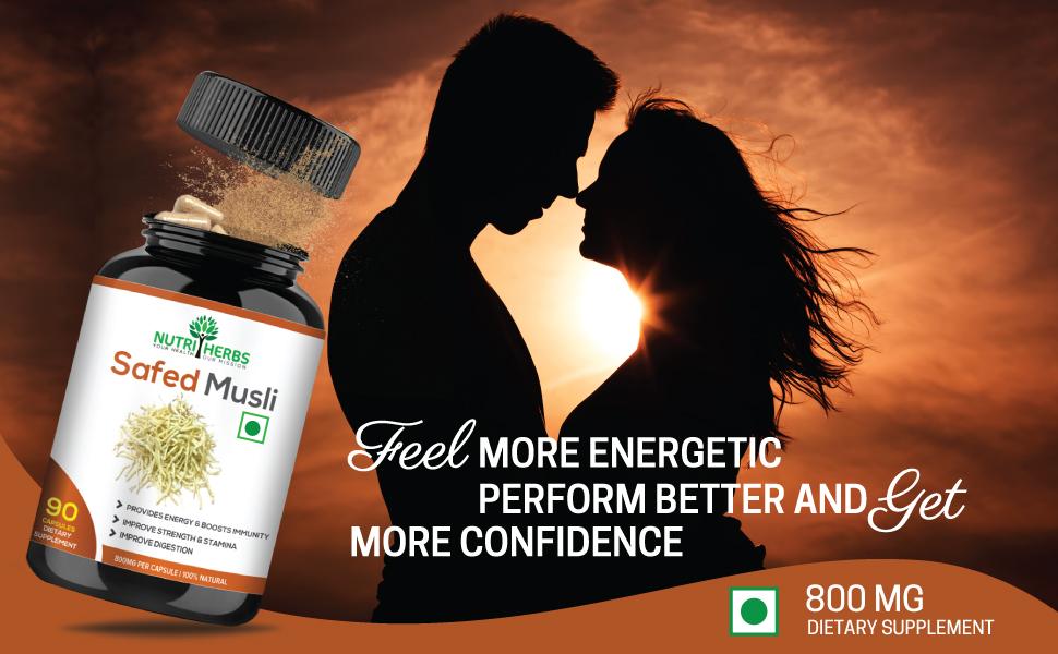 power capsules extract Chlorophytum borivilianum natural aphrodisiac  general health saponin