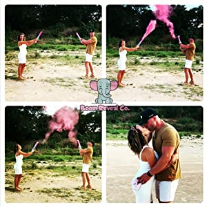 Gender Reveal Powder Cannon Baby Shower Announcement Party Supplies Decorations