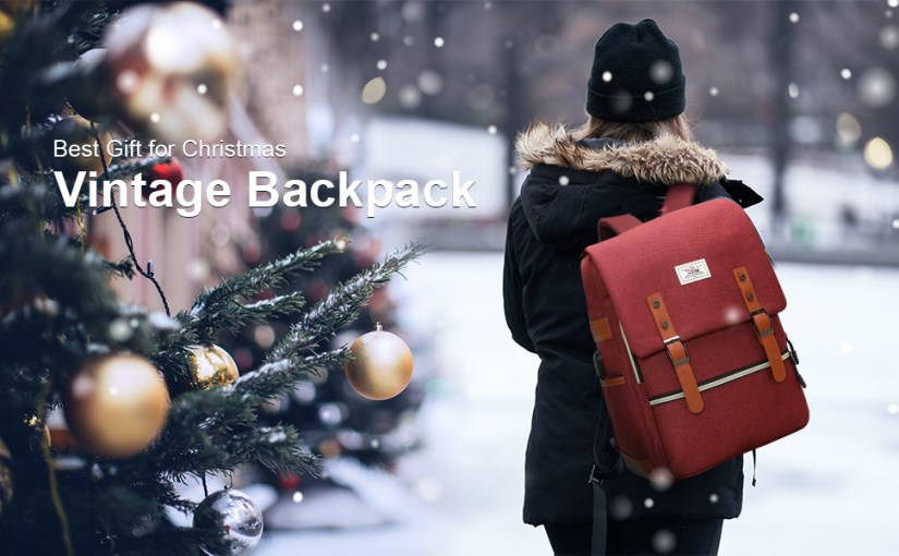 Laptop backpack for men women