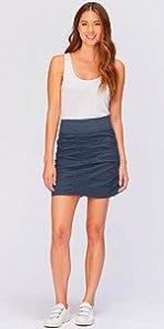 Trace Skirt in Navy