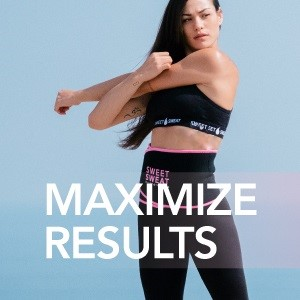 use sweet sweat trimmer with sweet sweat gel to maximize your results