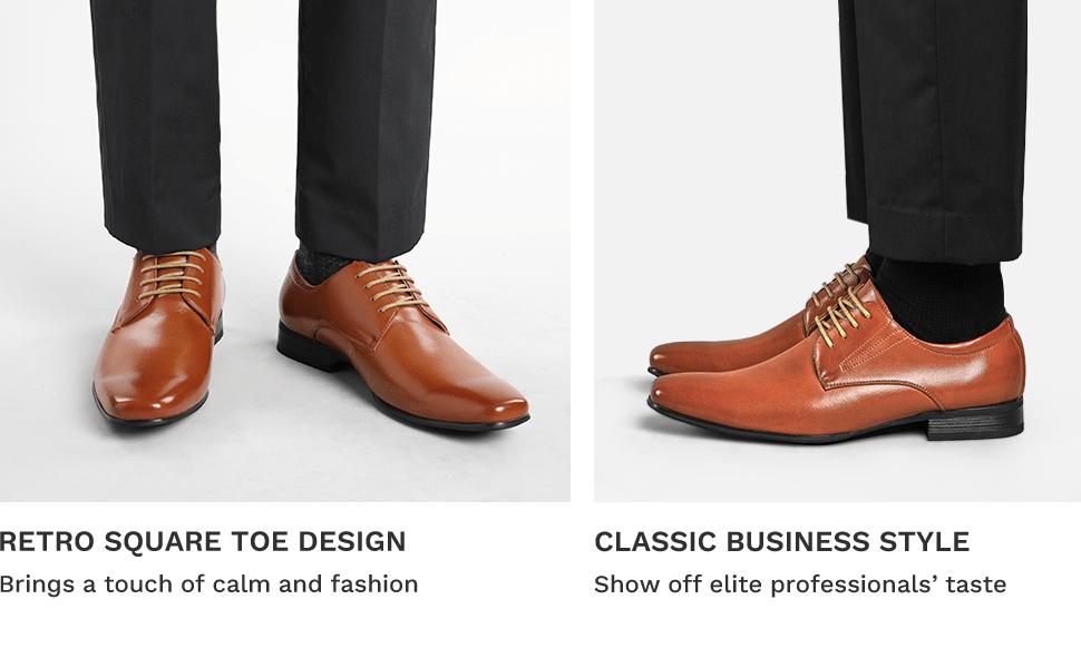 Bruno Marc Men's Leather Lined Snipe Toe Dress Oxfords Shoes