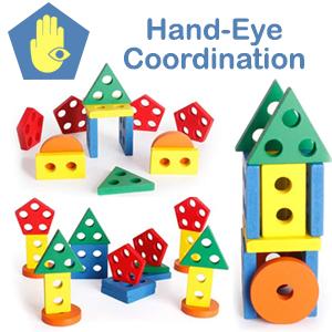 Building Blocks Hand Eye Coordination Recognition Creative Imagination Game Skill Develops