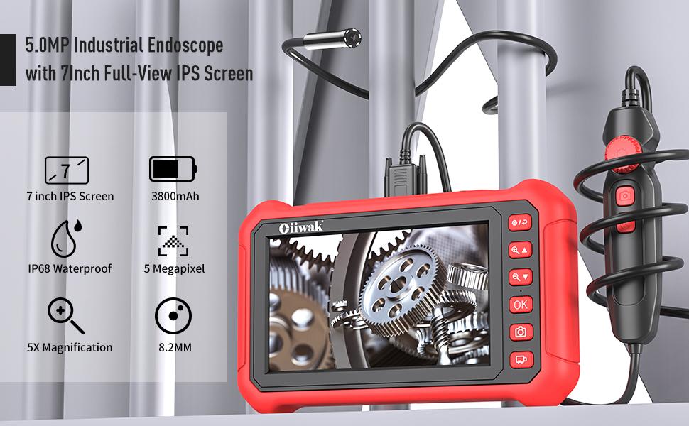 Oiiwak 7Industrail Endoskop