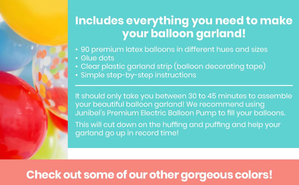 balloon garland baloon arch kit balloons small ballon diy arc tape kits hanging strip and glue