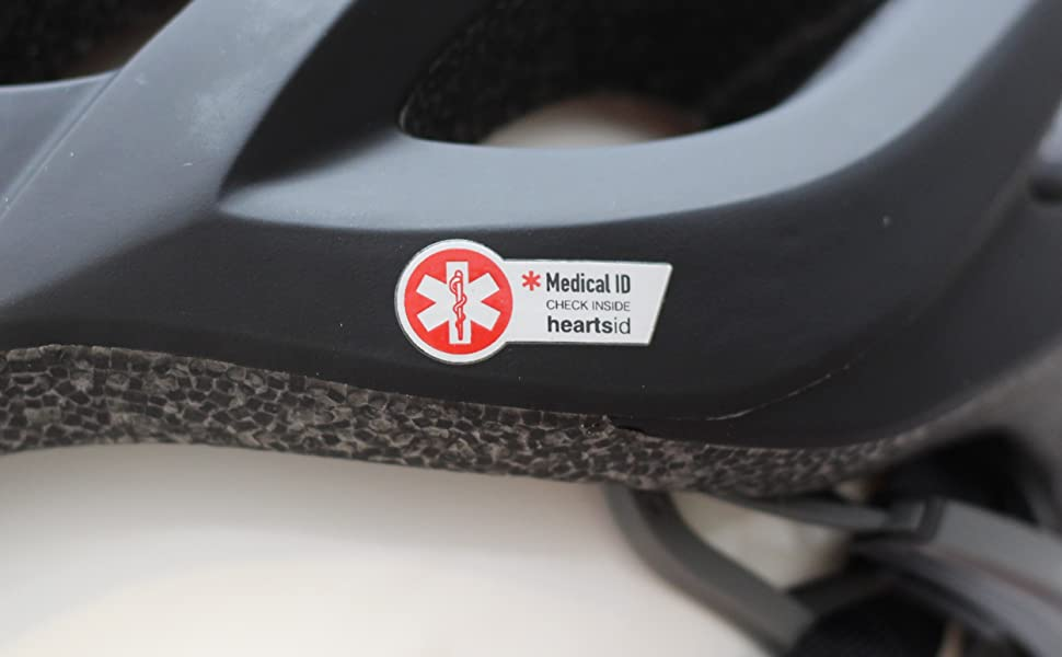 hearts bio, heartsbio, heartsfit, heartshelmet, road bike helmet, bike helmet, medical ID