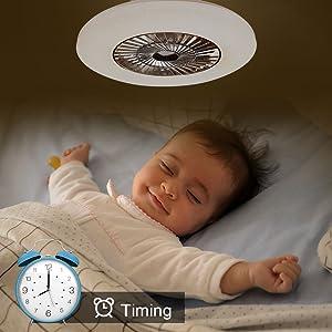 timing ceiling fan light