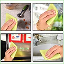 The sponge cloths can be used on counter top, refrigerator and all other surfaces