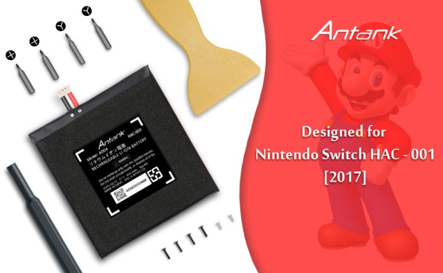 Antank battery designed for Nintendo Switch Hac-001 with tool kit