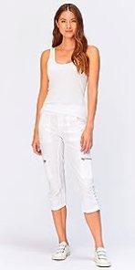 Nadia Crop in White