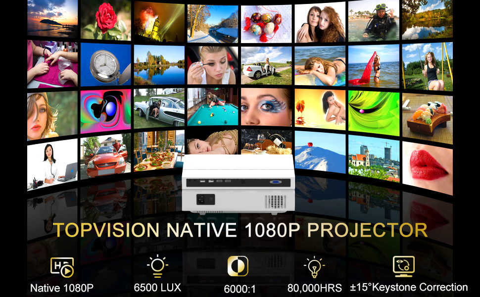 TOPVISION NATIVE 1080P PROJECTOR