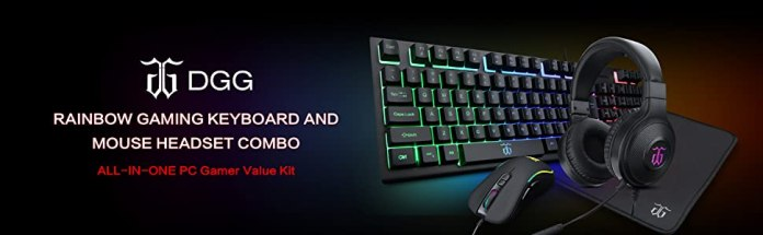 RAINBOW GAMING KEYBOARD AND MOUSE HEADSET COMBO