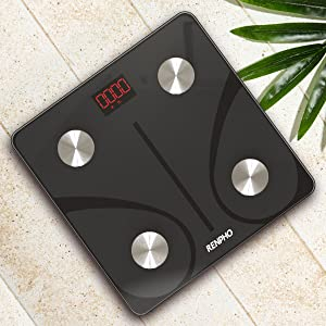 bf043f0c b49c 4c4e 853d 37df24b22103.  CR0,0,600,600 PT0 SX300 V1    - RENPHO Bluetooth Body Fat Scale Smart BMI Scale Digital Bathroom Wireless Weight Scale, Body Composition Analyzer with Smartphone App 396 lbs - Black