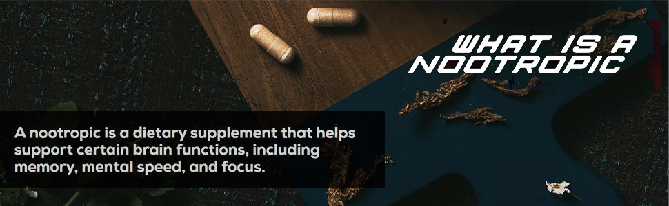 Nootropic brain supplement, alpha brain, focus concentration and memory pills, Alpha GPC