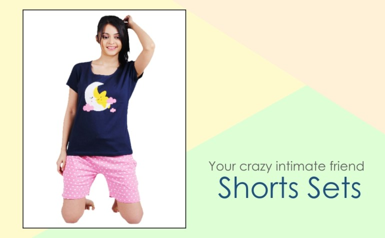 Latest, stylish, sexy yet regular mini shorts set for young women and ladies, perfect even as a gift