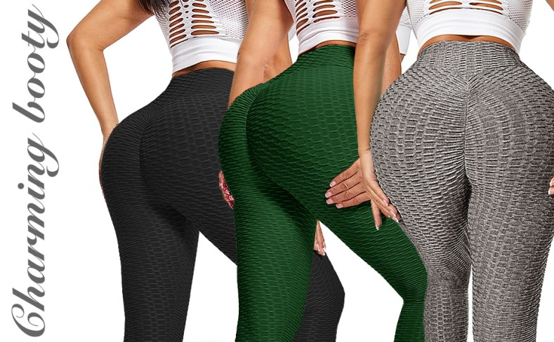 tiktok leggings women butt lifting high waist booty tummy control enhance workout pant anti cellulit