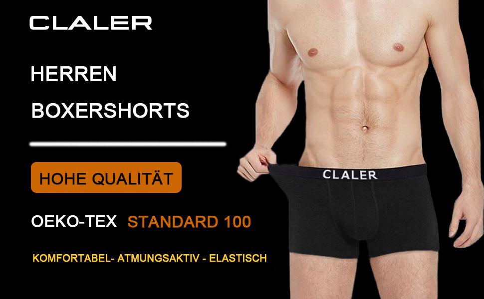 Herren Boxershorts,HOHE QUALITÄT,ELASTISCH,Komfortable und Atmungsaktiv,OEKO-TEX Standard 100