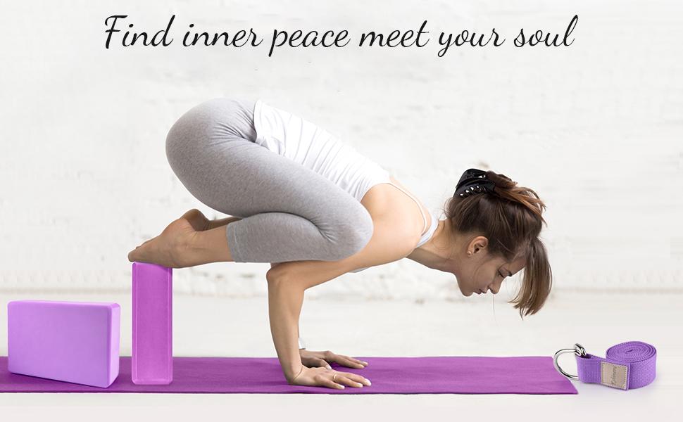 yoga blocks with strap