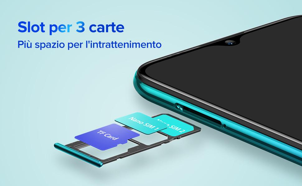 Slot per 3 carte-Ulefone Note 9p