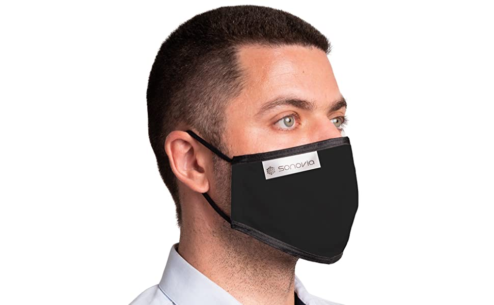 sonovia, sonomask, face mask, reusable mask, washable mask, cloth mask, adjustable mask