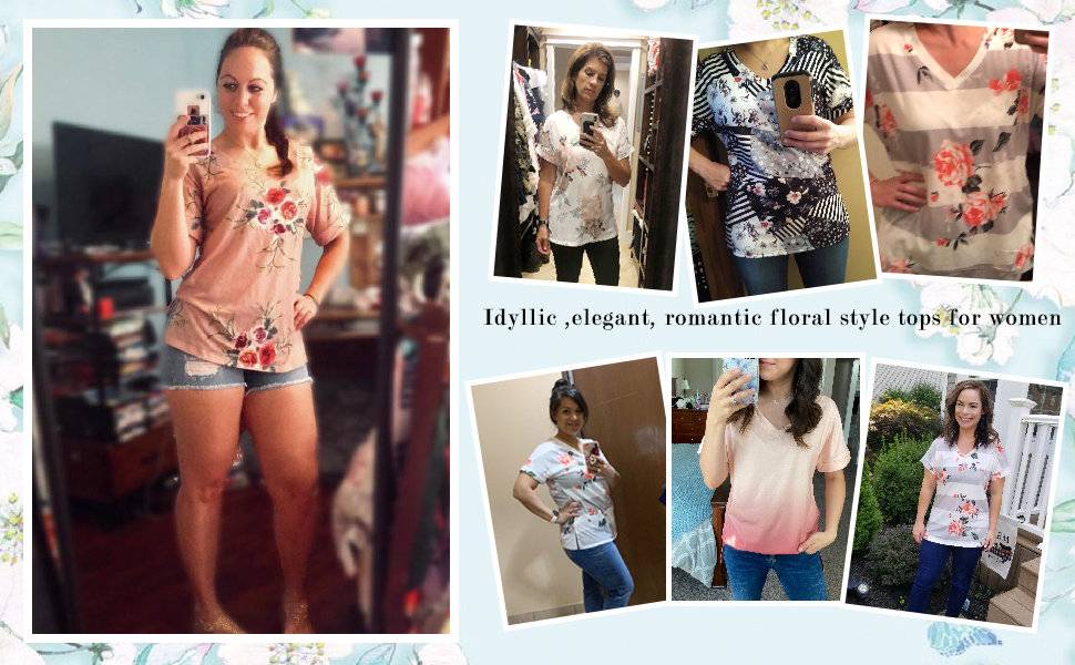 floral tops for women