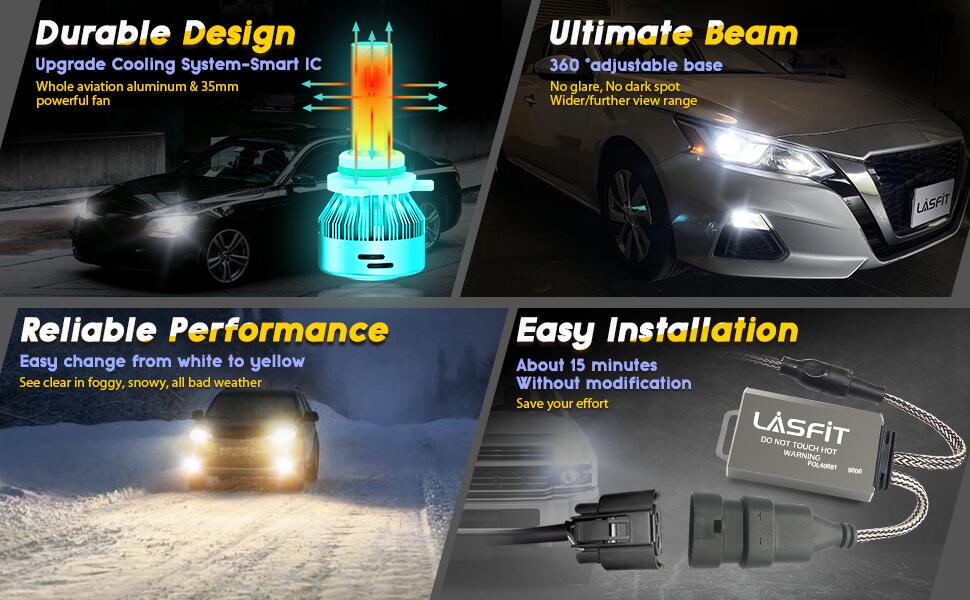 9006 led light bulbs functions