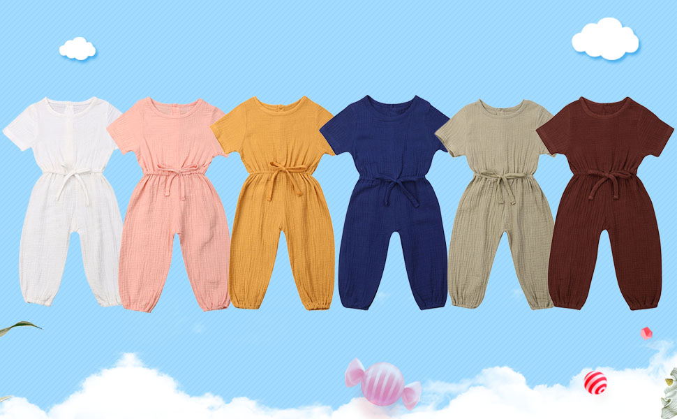 toddler girl clothes 3t 2t rompers babu girl simmer rompers fall jumpsuits cute solid plain basic