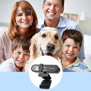 2K FHD Webcam mit Mikrofon für PC USB Webcam mit Privatsphäre Abdeckung für Sicherheit
