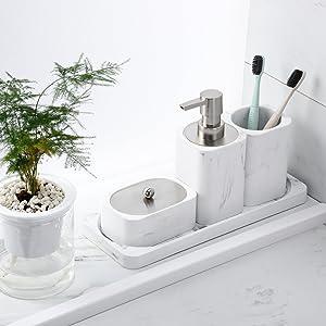 4 Pieces Bathroom Accessory Set