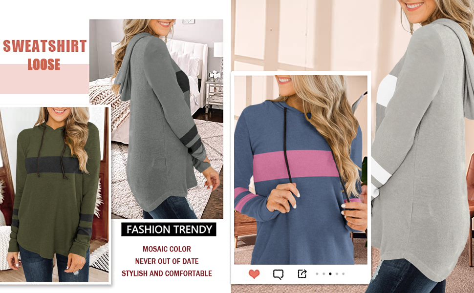 Long Sleeve Stripe Print Warm Tunic Pullover Tops